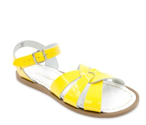 ORIGINAL SHINY YELLOW KID11-WOMEN10 SALT WATER SANDAL